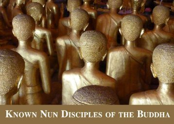 Known Nun Disciples of the Buddha
