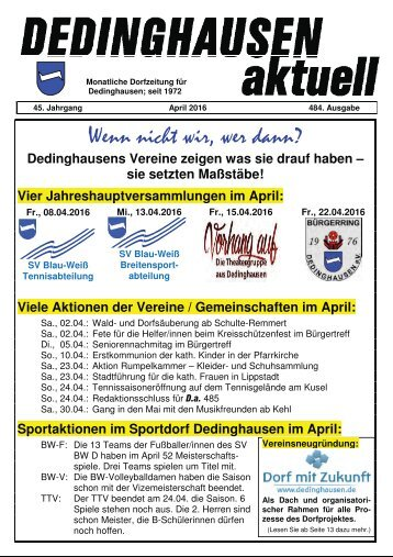 Dedinghausen aktuell 484