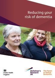 Reducing your risk of dementia
