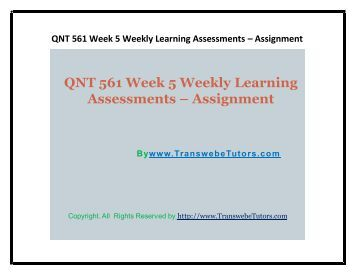 Assignment 1 Week 5 - Essay Example