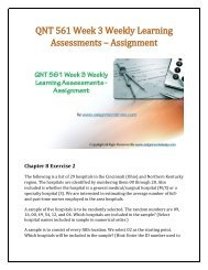 QNT 561 Week 3 Weekly Learning Assessments - Assignment