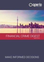FINANCIAL CRIME DIGEST