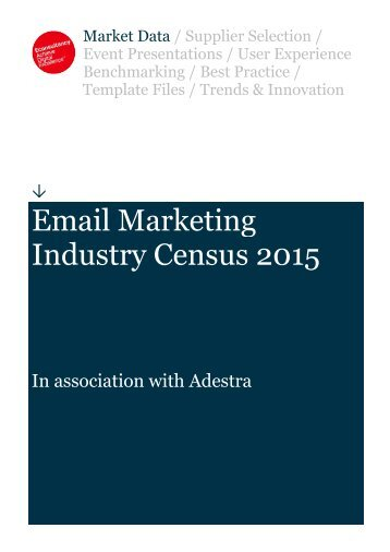Email Marketing Industry Census 2015
