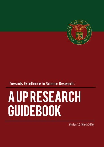 A up RESEARCH GUIDEBOOK