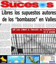 """Libres los supuestos autores de los """"bombazos"""" en Valles"""