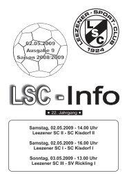 LSC-Info 2008-2009 Ausgabe 9 - Leezener SC