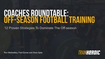 COACHES ROUNDTABLE OFF-SEASON FOOTBALL TRAINING