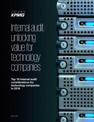 Internal audit unlocking value for technology companies