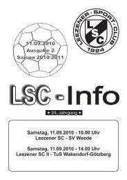 LSC-Info 2010-2011 Ausgabe 2 - Leezener SC