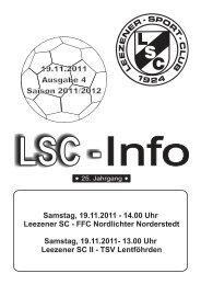 LSC Info Ausgabe 4 Saision 2011/2012 - Leezener SC