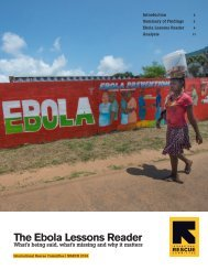 The Ebola Lessons Reader