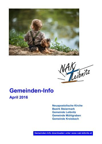 Gemeindeinfo April-Mai 2016