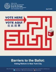 Barriers to the Ballot