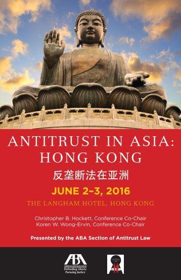 ANTITRUST IN ASIA HONG KONG