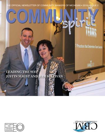 LEADING THE WAY! JUSTIN MAUST AND JUDI SULLIVAN