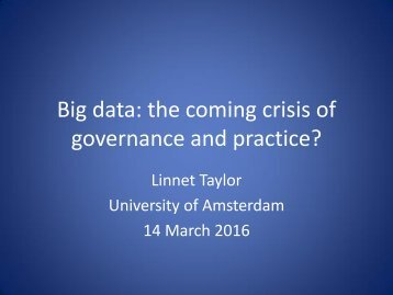 governance and practice?