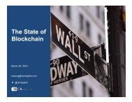The State of Blockchain