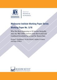 Melbourne Institute Working Paper Series Working Paper No 5/16