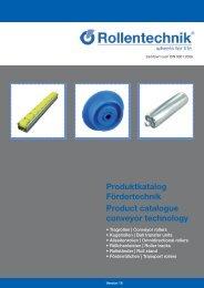 Rollentechnik vom Stein GmbH Fördertechnik Katalog
