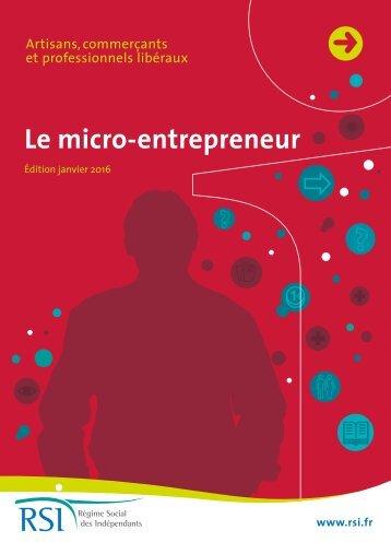 Le micro-entrepreneur