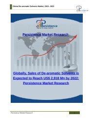 Global De-aromatic Solvents Market, 2016 - 2022