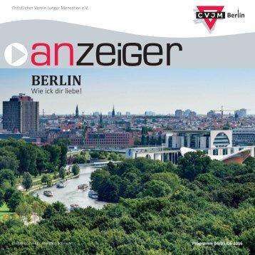 Anzeiger CVJM Berlin e.V. 04/05/06 2016