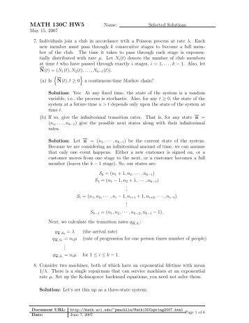 ee364a homework 5 solutions