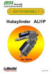 Elektromechanische Hubzylinder ALI1 P - ATM Maroldt ...