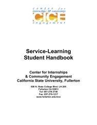 Service-Learning Student Handbook - California State University ...