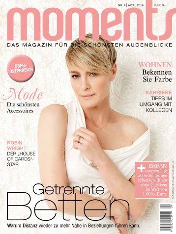 moments - Das Magazin für die schönsten Augenblicke