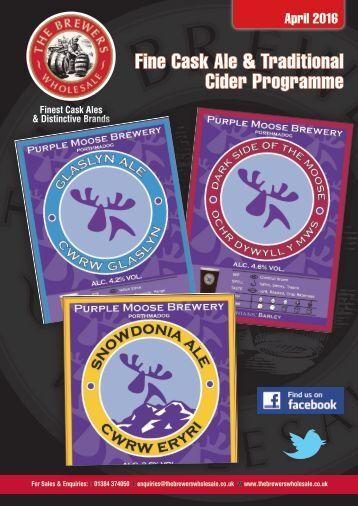 Fine Cask Ale & Traditional Cider Programme