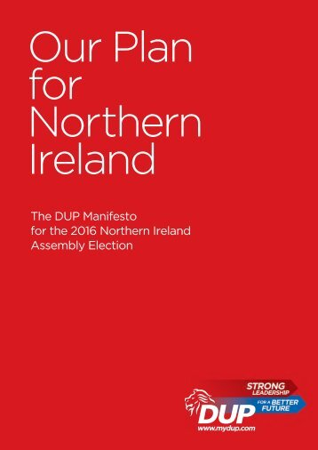 Our Plan for Northern Ireland