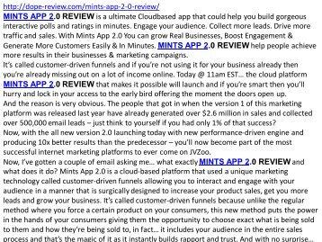 mints app 2.0 review