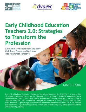 Early Childhood Education Teachers 2.0 Strategies to Transform the Profession