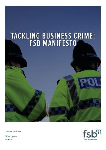 TACKLING BUSINESS CRIME FSB MANIFESTO