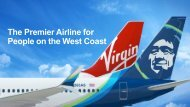 The Premier Airline for People on the West Coast