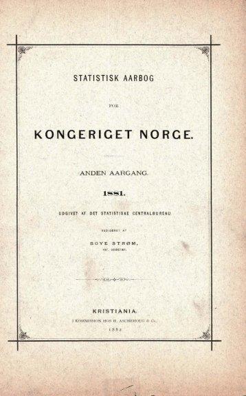 Norway Yearbook - 1881