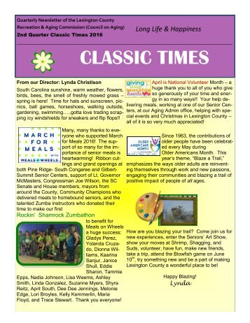 Classic Times Newsletter Q2 2016