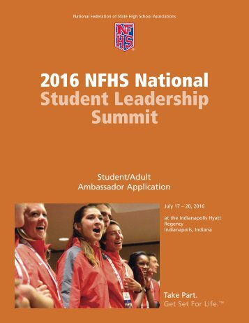 2016 NFHS National Student Leadership Summit