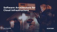 Software Architecture for Cloud Infrastructure