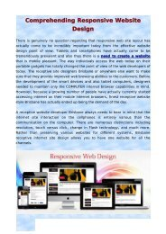 Comprehending Responsive Website Design