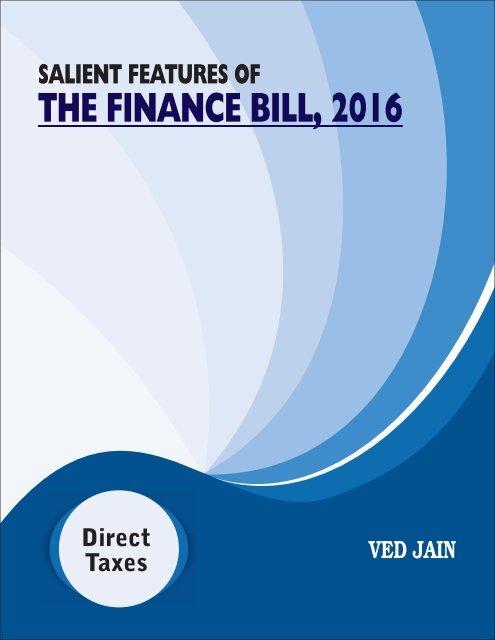 THE FINANCE BILL 2016