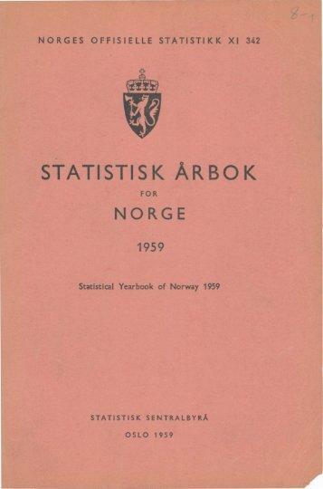 Norway Yearbook - 1959