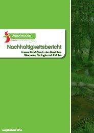 Nachhaltigkeitsbericht Windmann 201603
