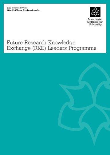 Future Research Knowledge Exchange (RKE) Leaders Programme