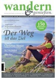 Wandern & Genießen - Magazin zum Allgäuer Wandersommer 2015