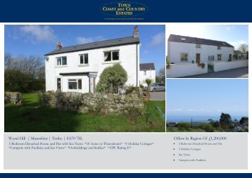 Wynd Hill | Manorbier | Tenby | SA70 7SL Offers In Region Of £1,200,000