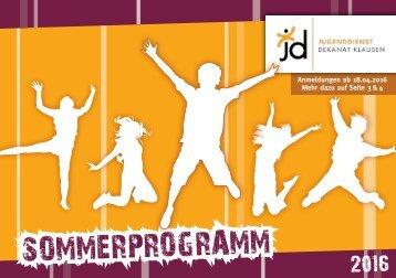Sommerprogramm 2016