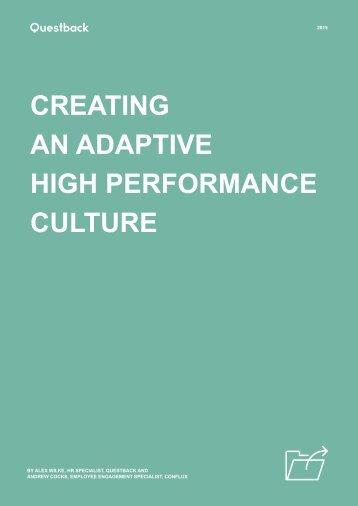 CREATING AN ADAPTIVE HIGH PERFORMANCE CULTURE