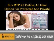 Buy MTP Kit Online - An Ideal Option For Protected And Private Abortion